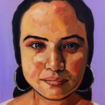"""""""What is Your Background Andrea?"""" Oil on Canvas, 16"""" x 24, Ilene Sova"""