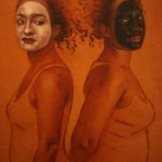 """""""Black or White"""" Oil on Canvas, 30""""x36"""", Jordan Clarke"""